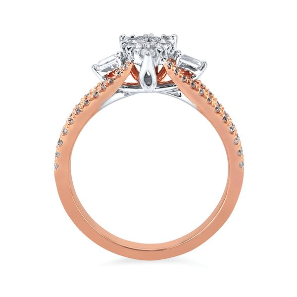 14k Rose Gold Engagement Set Image 2 Barnes Jewelers Goldsboro, NC