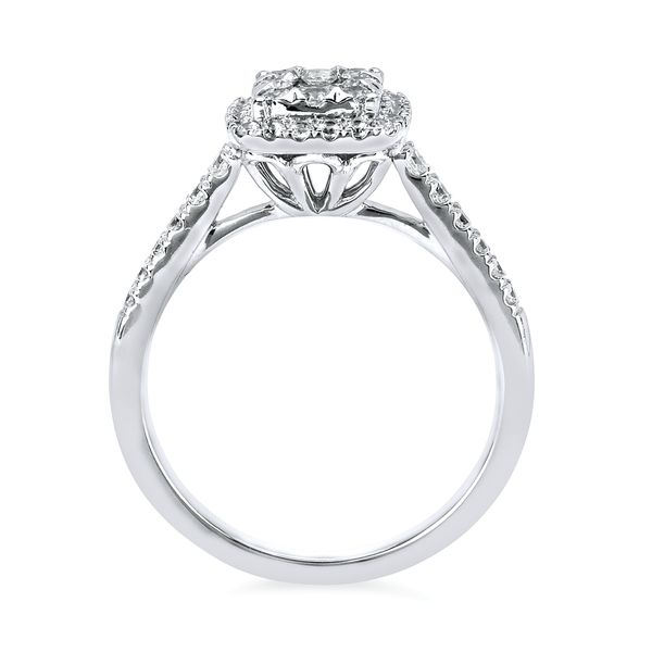 14k White Gold Engagement Set Image 2 Midtown Diamonds Reno, NV