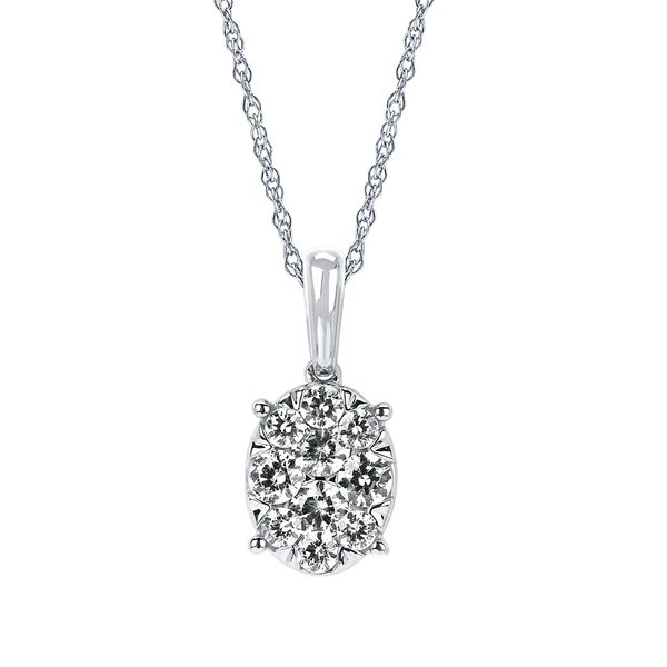 14k White Gold Pendant Midtown Diamonds Reno, NV