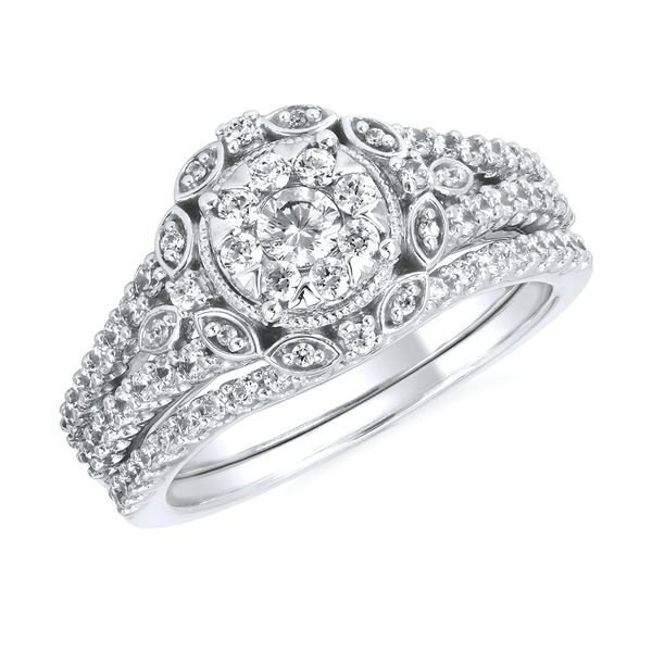 Bridal Sets - 14k White Gold Engagement Set