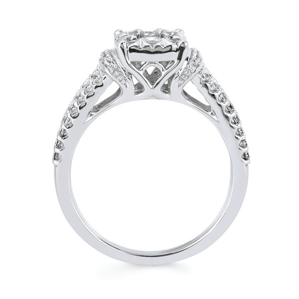 14k White Gold Engagement Set Image 2 B & L Jewelers Danville, KY