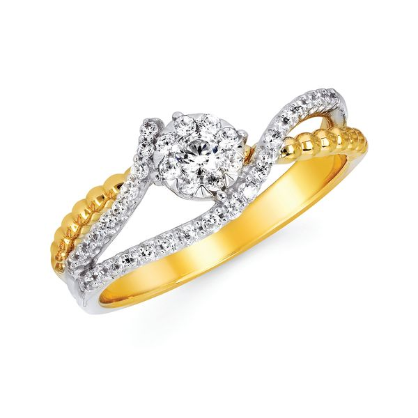 14k White And Yellow Gold Ring Midtown Diamonds Reno, NV