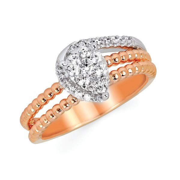 14k White And Rose Gold Ring Michael's Jewelry Center Dayton, OH