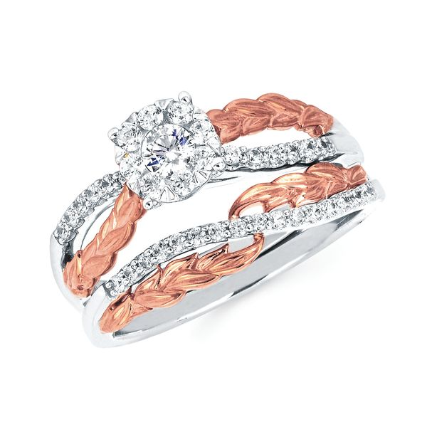 14k White And Rose Gold Engagement Set Bijoux Fine Jewelers Sulphur, LA