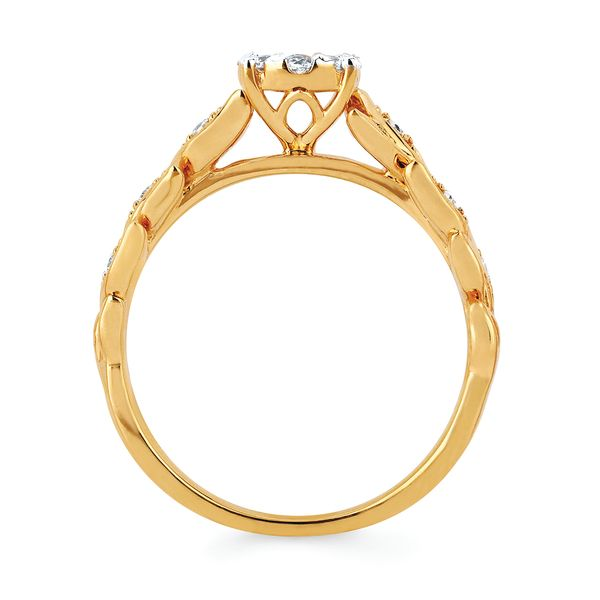 14k Yellow Gold Engagement Set Image 2  ,