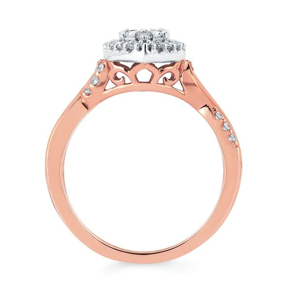 14k White And Rose Gold Engagement Set Image 2  ,