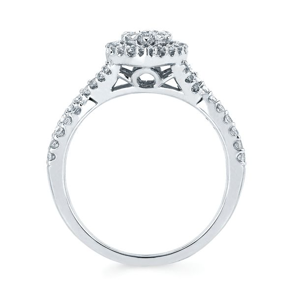 14k White Gold Engagement Set Image 2 Barnes Jewelers Goldsboro, NC