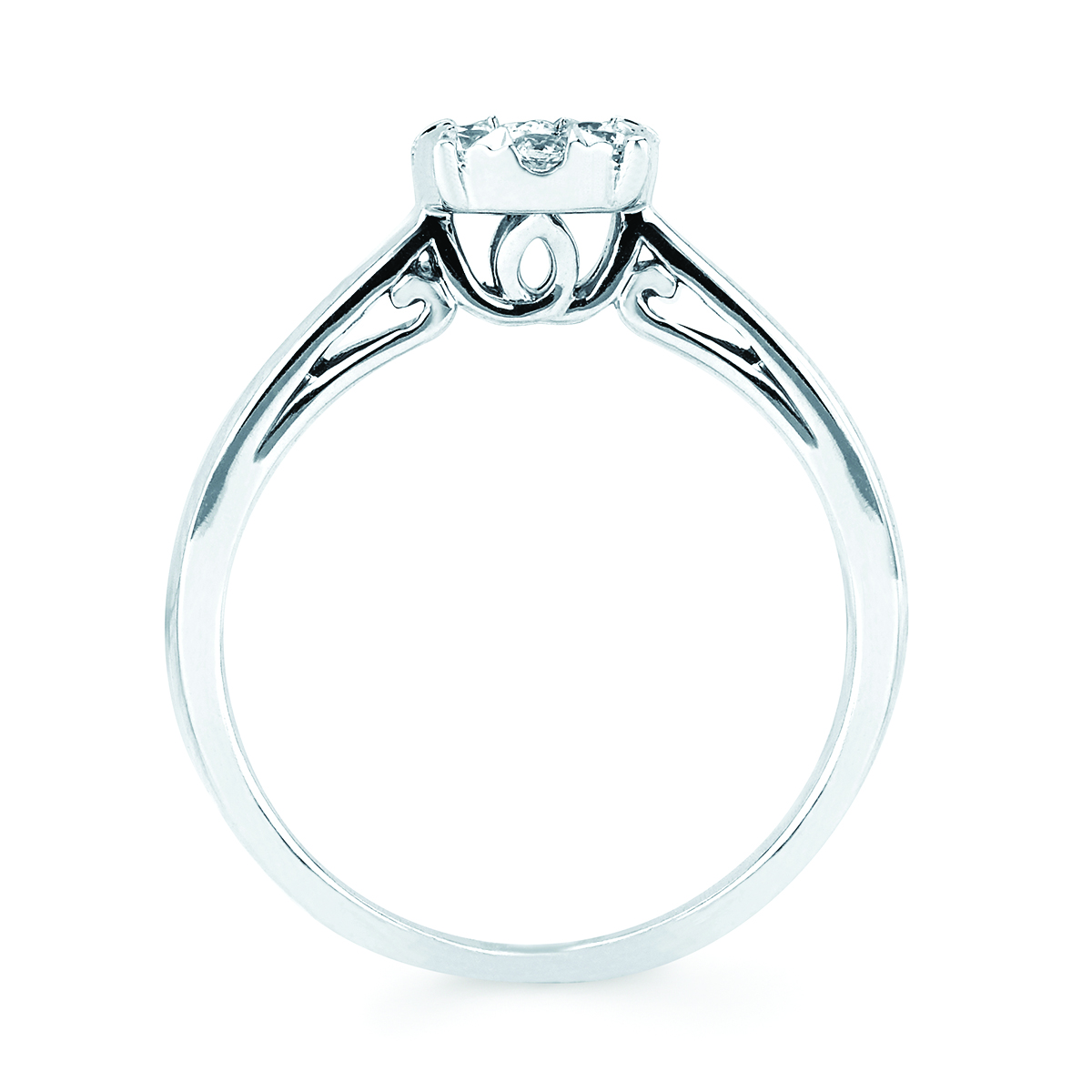 14k White Gold Ring Image 4 Midtown Diamonds Reno, NV