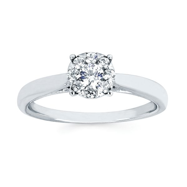 14k White Gold Ring Image 5 Midtown Diamonds Reno, NV