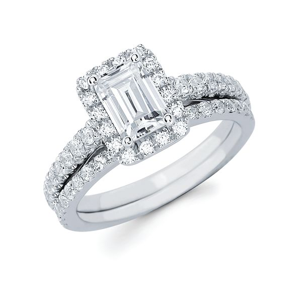 14k White Gold Engagement Set Arthur's Jewelry Bedford, VA