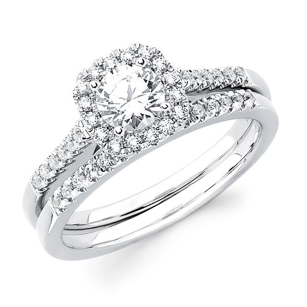 14k White Gold Engagement Set Barnes Jewelers Goldsboro, NC