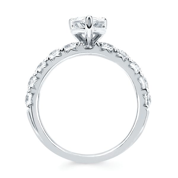 14k White Gold Engagement Set Image 4  ,