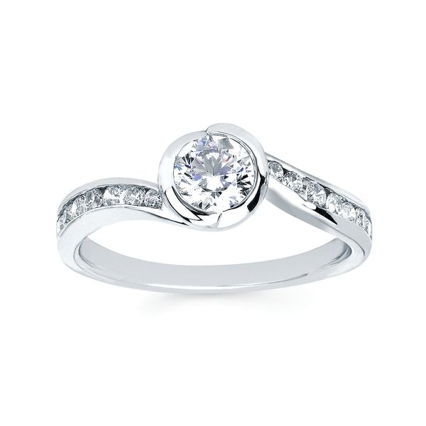 14k White Gold Engagement Set Image 3  ,