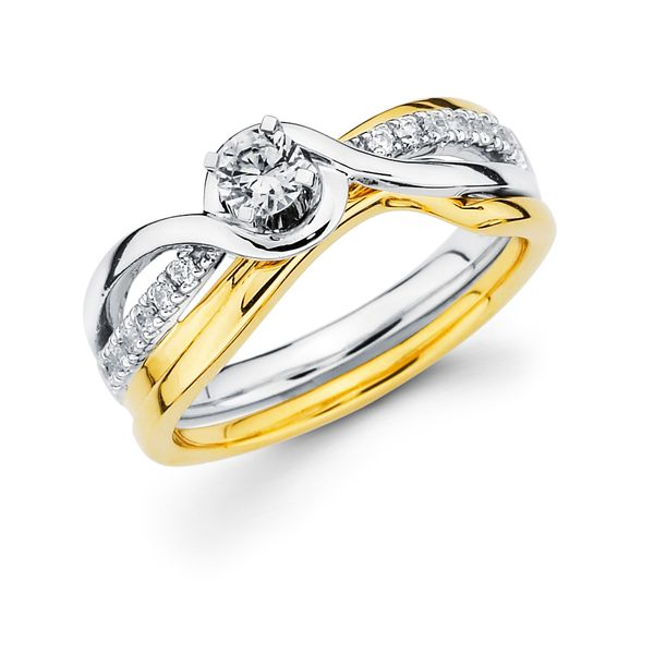 14k White And Yellow Gold Engagement Set James Gattas Jewelers Memphis, TN