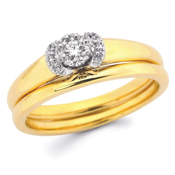 14k White And Yellow Gold Engagement Set Arthur's Jewelry Bedford, VA
