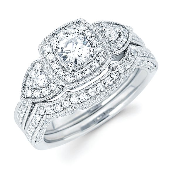 14k White Gold Engagement Set B & L Jewelers Danville, KY