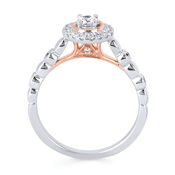 10k White And Rose Gold Engagement Set Image 2 Arthur's Jewelry Bedford, VA