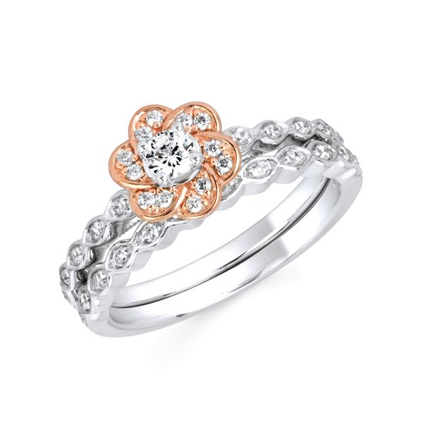 10k White And Rose Gold Engagement Set Enchanted Jewelry Plainfield, CT
