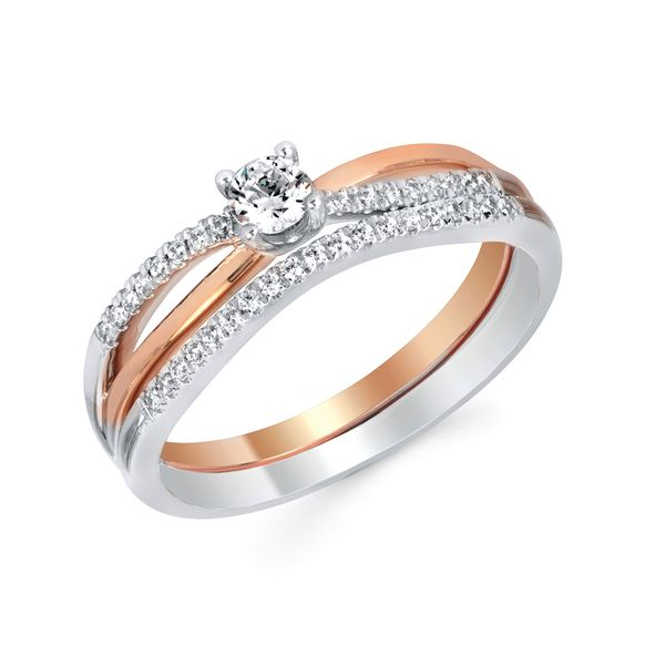 10k White And Yellow Gold Engagement Set Jones Jeweler Celina, OH