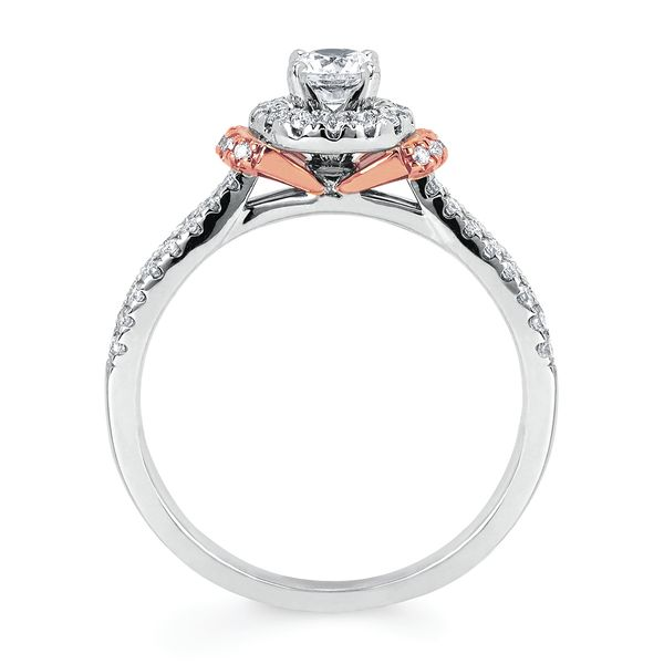 14k White And Rose Gold Engagement Set Image 2 Midtown Diamonds Reno, NV