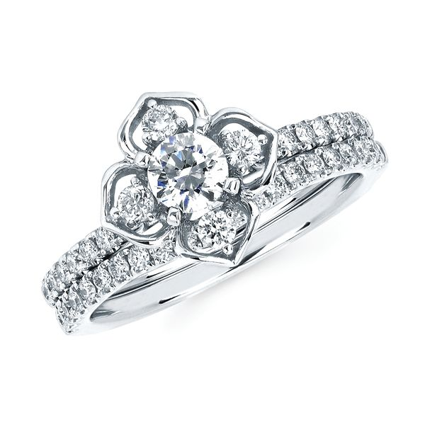 14k White Gold Engagement Set Bijoux Fine Jewelers Sulphur, LA