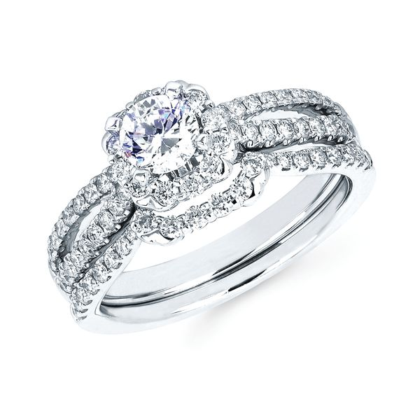 14k White Gold Engagement Set James Gattas Jewelers Memphis, TN