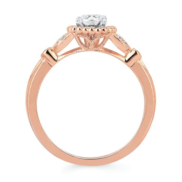 14k Rose Gold Engagement Set Image 2 Midtown Diamonds Reno, NV