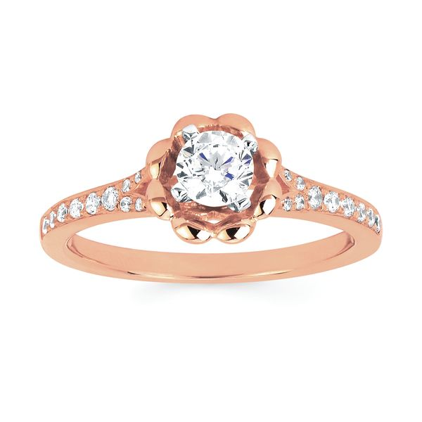 14k Rose Gold Engagement Set James Gattas Jewelers Memphis, TN