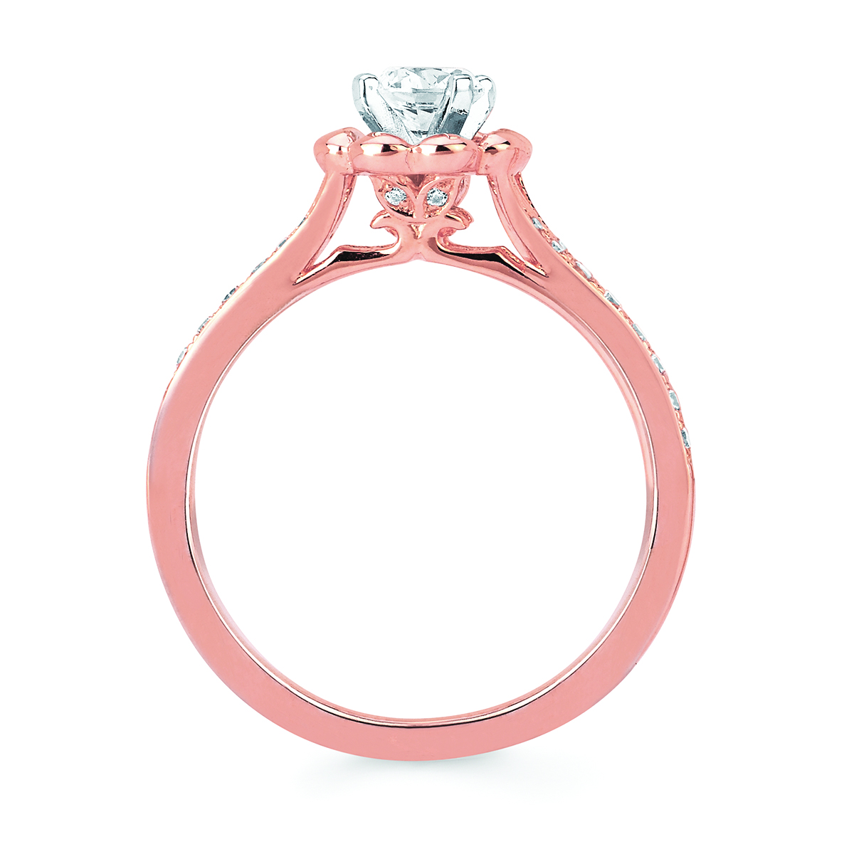 14k Rose Gold Engagement Set Image 2 James Gattas Jewelers Memphis, TN