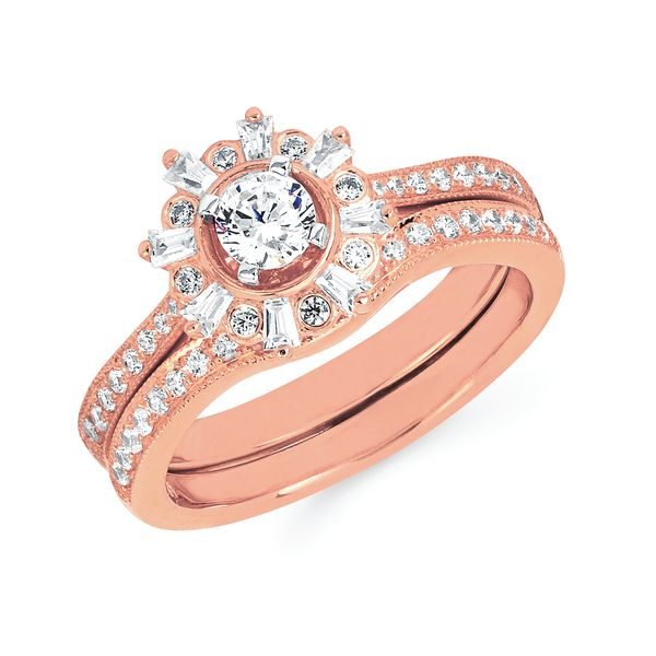 14k Rose Gold Engagement Set Midtown Diamonds Reno, NV