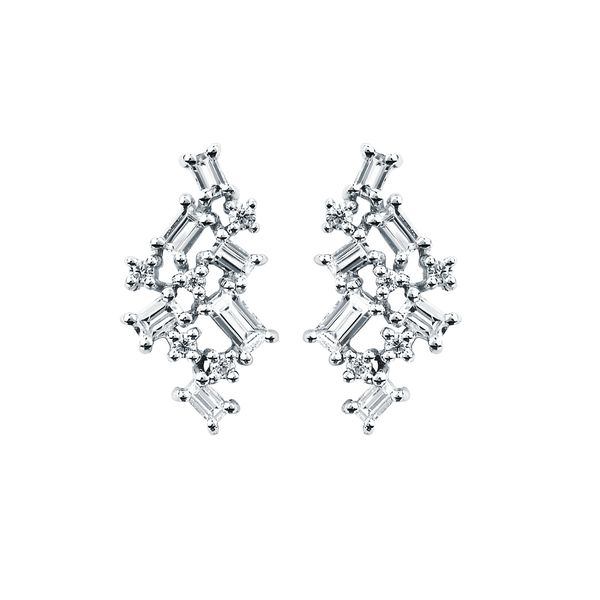 14k White Gold Earrings Baker's Fine Jewelry Bryant, AR