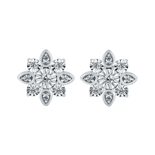 14k White Gold Earrings Cindi's Diamond & Jewelry Gallery Foxborough, MA