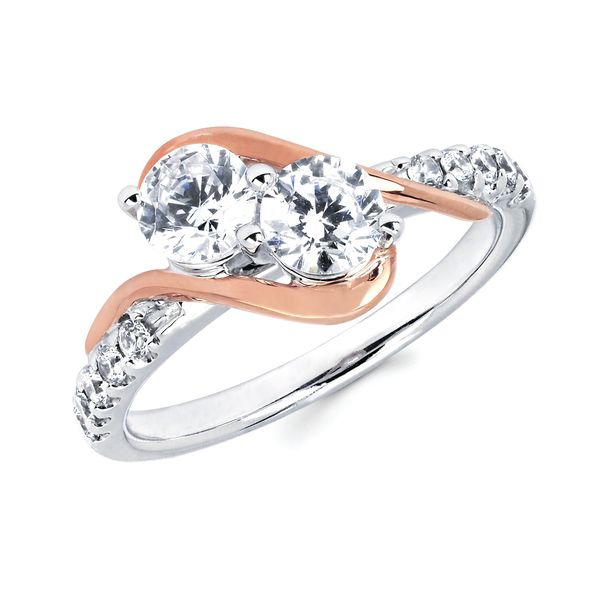 14K White & Rose Gold Ring by 2Us Diamond Jewelry