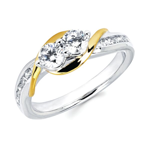 14K White & Yellow Gold Ring by 2Us Diamond Jewelry
