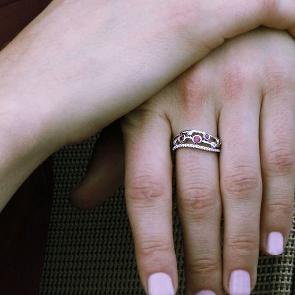 14k White Gold Ring Image 2 Baker's Fine Jewelry Bryant, AR