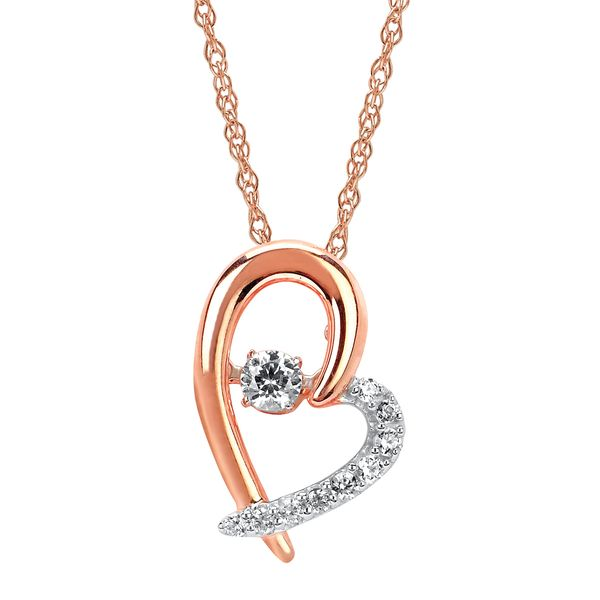 3e7ff9366 Shimmering Diamonds 14k Rose Gold Pendant SD17P48-4RC   Erickson ...