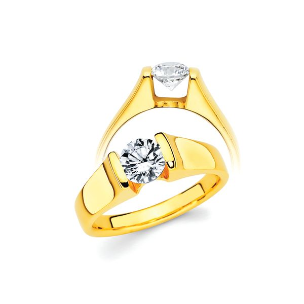 14k Yellow Gold Engagement Set Arthur's Jewelry Bedford, VA