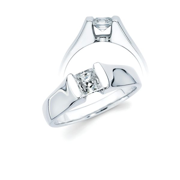 14k White Gold Engagement Ring Barnes Jewelers Goldsboro, NC