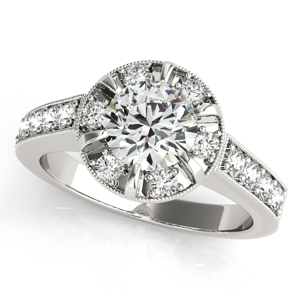 Platinum Round Halo Engagement Ring The Stone Jewelers Boone, NC