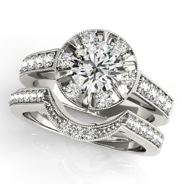 Platinum Round Halo Engagement Ring Image 3 The Stone Jewelers Boone, NC