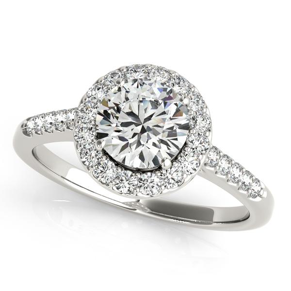 Overnight Platinum Round Halo Engagement Ring 50345 E 1 2 Pl Reed Sons Sedalia Mo