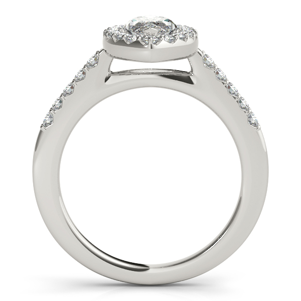 14K White Gold Halo Engagement Ring Image 2 Atlanta West Jewelry Douglasville, GA