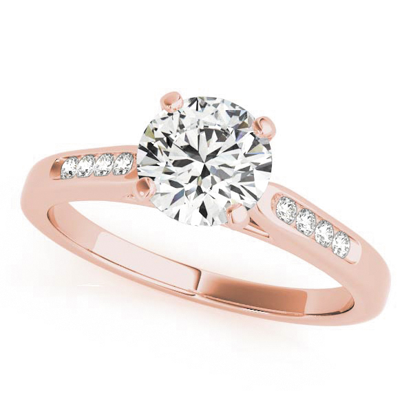 18K Rose Gold Single Row Channel Engagement Ring Atlanta West Jewelry Douglasville, GA