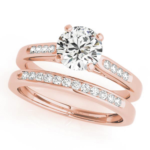 18K Rose Gold Single Row Channel Engagement Ring Image 3 Atlanta West Jewelry Douglasville, GA
