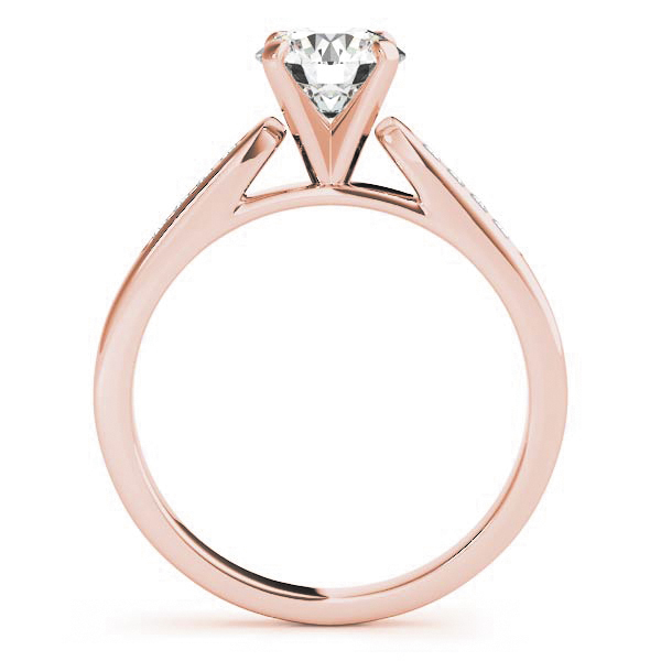 18K Rose Gold Single Row Channel Engagement Ring Image 2 Atlanta West Jewelry Douglasville, GA
