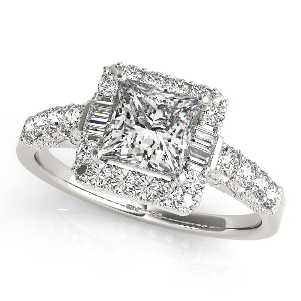 18K White Gold Halo Engagement Ring Atlanta West Jewelry Douglasville, GA