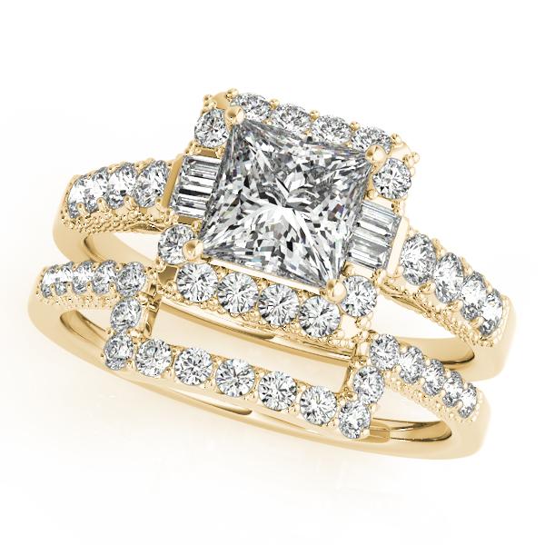 14k Yellow Gold Halo Engagement Ring 50459 E 1 14ky Stuart