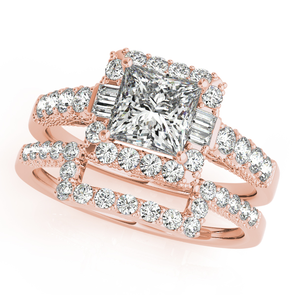 10k Rose Gold Halo Engagement Ring 50459 E 11 2 10kr John Herold