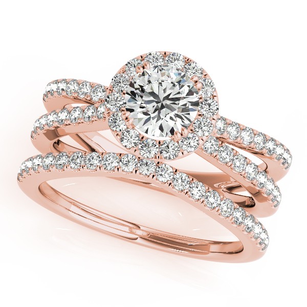 14k Rose Gold Round Halo Engagement Ring 50531 E A 14kr Couch S