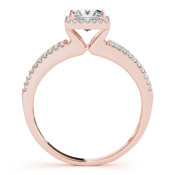 18K Rose Gold Halo Engagement Ring Image 2 Atlanta West Jewelry Douglasville, GA